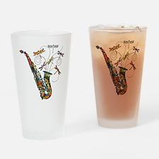 Wild Saxophone Drinking Glass