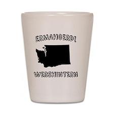 Ermahgerd! Wershintern (WA) Shot Glass