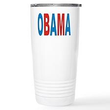 Red Blue Obama 2012 Travel Mug