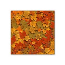 "autumn leaves pattern Square Sticker 3"" x 3"""