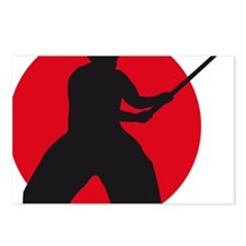 samurai with sword Postcards (Package of 8)