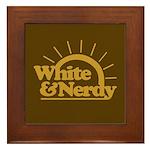 White & Nerdy Framed Tile