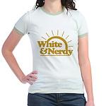 White & Nerdy Jr. Ringer T-Shirt