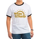 White & Nerdy Ringer T