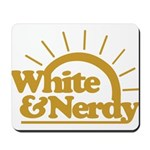 White & Nerdy Mousepad