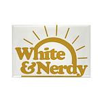 White & Nerdy Rectangle Magnet