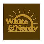 White & Nerdy Tile Coaster