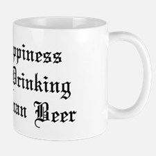 Happiness Drinking German Beer Mug