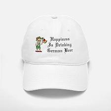 Happiness Drinking German Beer Baseball Baseball Cap