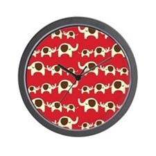 Elephant Parade Wall Clock