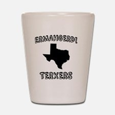 Ermahgerd! TERXERS (TX) Shot Glass