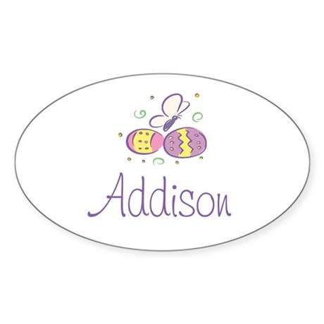 Easter Eggs - Addison Oval Sticker