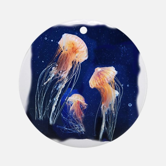 Jellies Round Ornament
