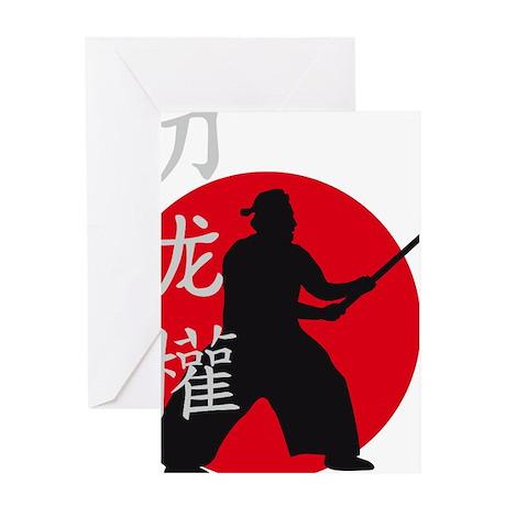 samurai with sword Greeting Card