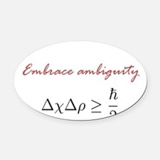 Embrace Ambiguity Oval Car Magnet