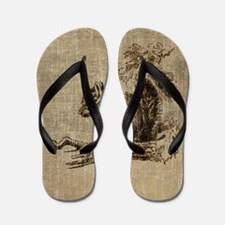 Vintage Squirrel Flip Flops
