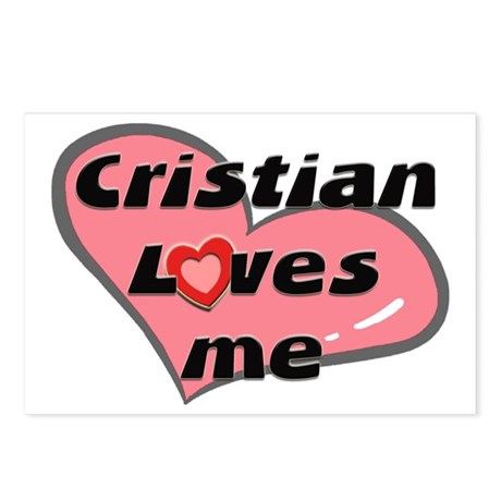 cristian loves me Postcards (Package of 8)