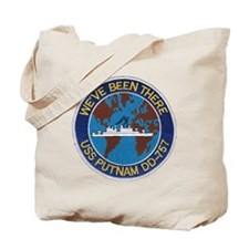 uss putnam patch transparent Tote Bag