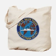 uss putnam patch transparent Tote Bag