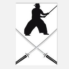 samurai sword Postcards (Package of 8)
