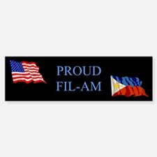 Proud Filipino #2 Gifts Bumper Bumper Bumper Sticker
