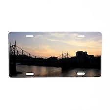 River Sun  Set Aluminum License Plate