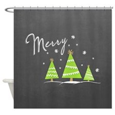 Merry Trees Shower Curtain