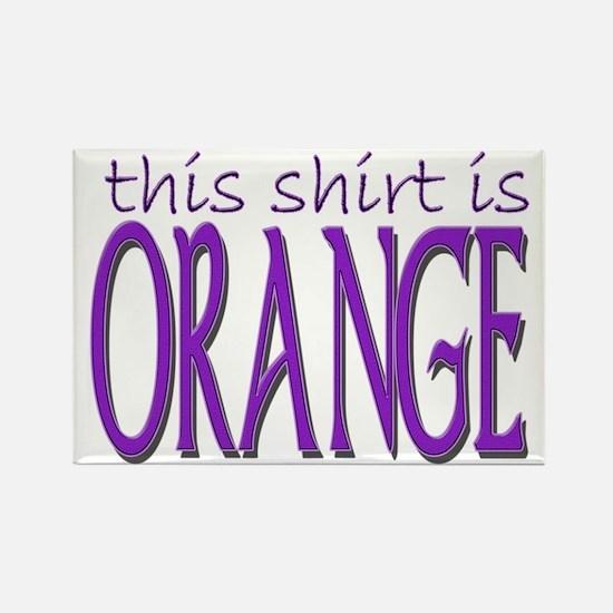 Orange Offset dark Rectangle Magnet
