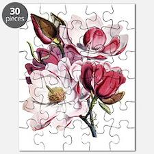 Pink Magnolia Flowers Puzzle