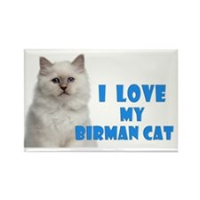 Birman Cat Car Magnet Rectangle Magnet