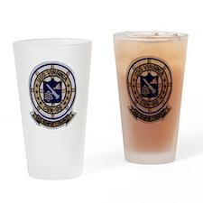 uss virginia patch transparent Drinking Glass