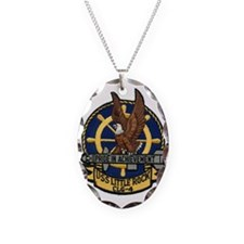 uss little rock patch transpar Necklace