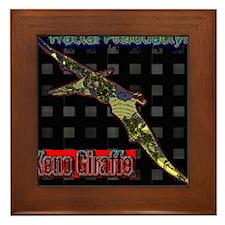 FRACTAL PTERODACTYLS - XENO GIRAFFE -  Framed Tile