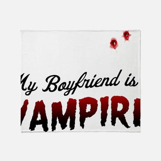 My Boyfriend Is a Vampire Throw Blanket