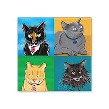 """Lucky, Melvin, Orange, Sund Square Sticker 3"""" x 3"""""""