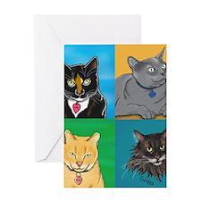 Lucky, Melvin, Orange, Sunday Greeting Card