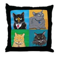 Lucky, Melvin, Orange, Sunday Throw Pillow