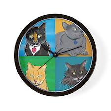Lucky, Melvin, Orange, Sunday Wall Clock