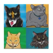 Lucky, Melvin, Orange, Sunday Tile Coaster