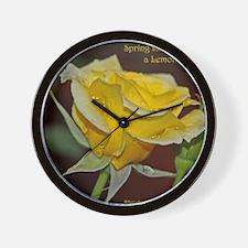 Lemonade Rose Poster: RoseProse 16x20 Wall Clock