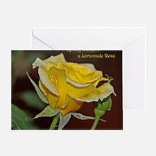Lemonade Rose Poster: RoseProse 16x2 Greeting Card