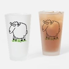 comic sheep Drinking Glass