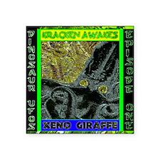 """Kracken Awakes Green Square Sticker 3"""" x 3"""""""