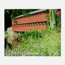 Gettysburg PA, Sachs Bridge, Mousepa Throw Blanket