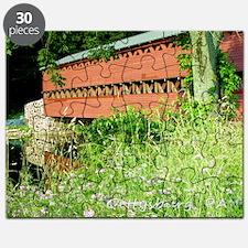 Sachs covered bridge, gettysburg postcards Puzzle