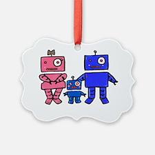 Robot Family Ornament