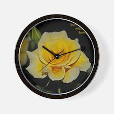LemonCustard Rose Poster: RoseProse 16x Wall Clock
