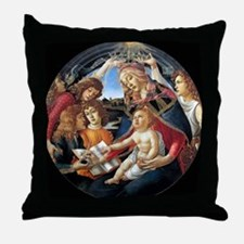 Magnifat Madonna - Botticelli Throw Pillow