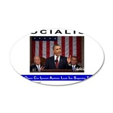 SOCIALIST - The Obama Path - 35x21 Oval Wall Decal