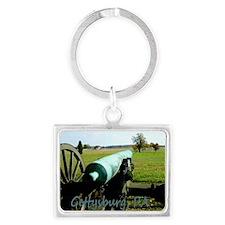 Canon on Battlefield, Gettysbur Landscape Keychain
